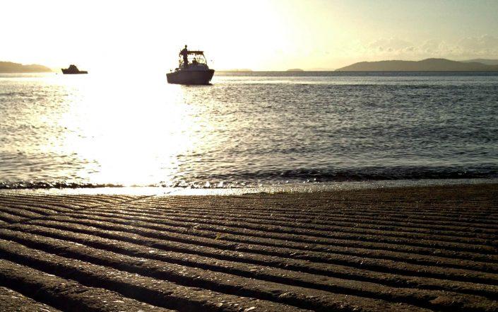 Coucher de soleil sur la baie de Port Stephens