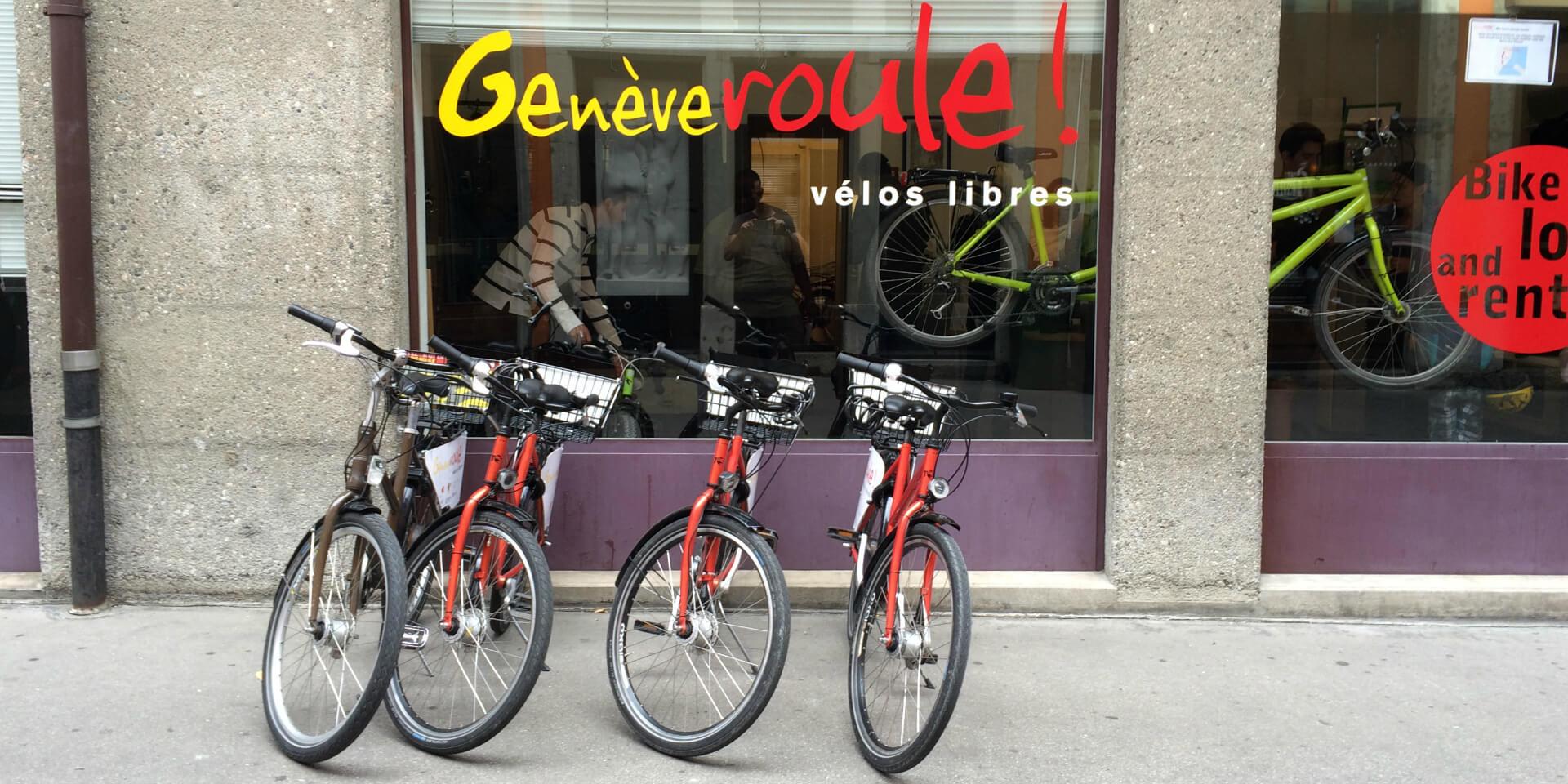 L'association Genève Roule permet de visiter Genève à vélo.