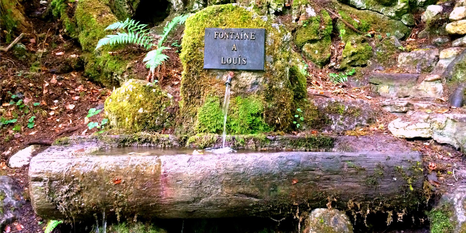 La Fontaine à Louis sur la Route de l'Absinthe près de Môtiers, Suisse.